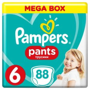 Pampers Pants Bugyipelenka 6 XLarge Mega Box (15 kg+) 88 db