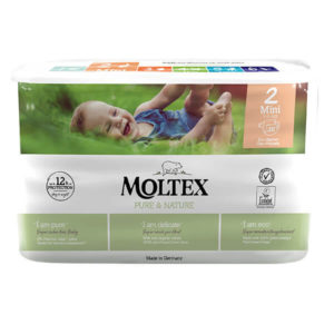 Moltex Pure & Nature Nadrágpelenka 2 Mini (3-6 kg) 38 db