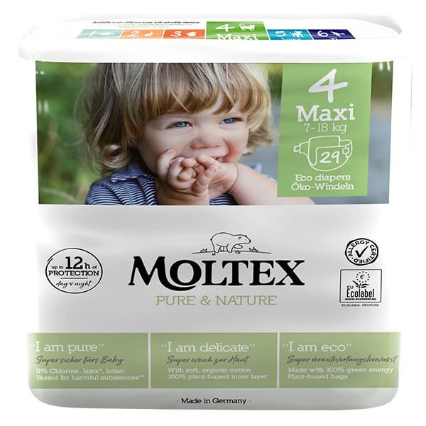 Moltex Pure & Nature Nadrágpelenka Maxi (7-18 kg) 29 db