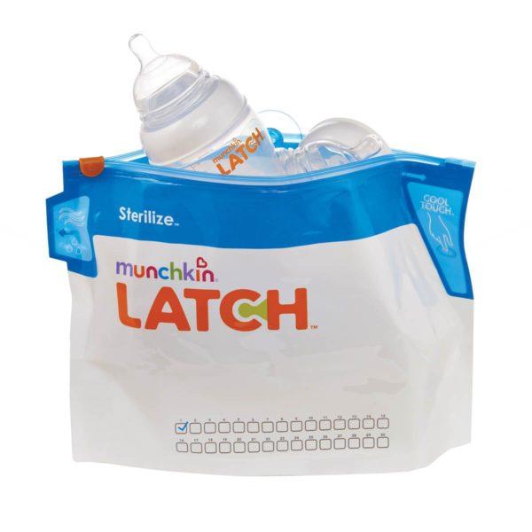 Munchkin LATCH Mikrohullámú sterilizáló tasak (6db)