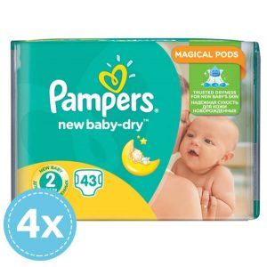 4x Pampers New Baby Dry Nadrágpelenka 2 Mini