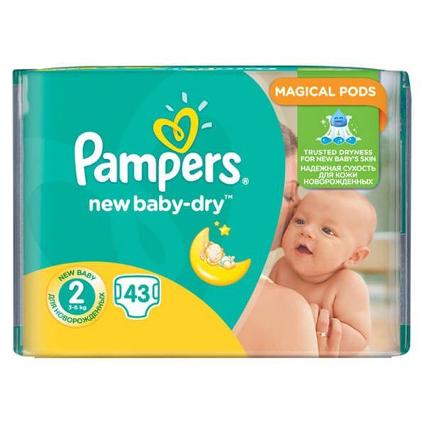 Pampers New Baby Dry Nadrágpelenka 2 Mini (3-6 kg) 43 db