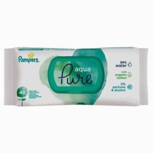 Pampers Wipes Aqua Pure Nedves törlőkendő 48 db