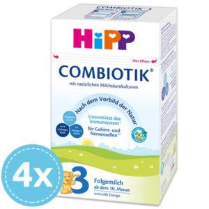 HiPP 3 Bio Combiotik Anyatej kiegészítő tápszer 10 hó+ 4x 600 g (2400 g)