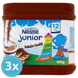 3x Nestlé Junior Kakaós ízesítő 12 hó+ 400 g (1200 g)