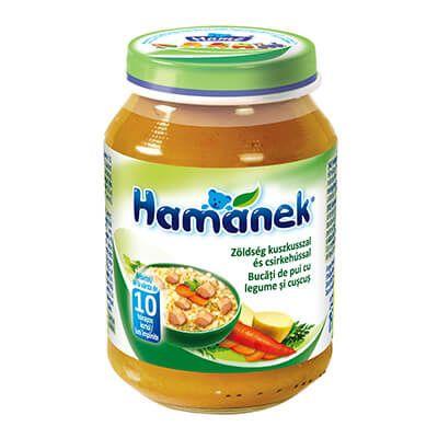 Hamánek Bébiétel Zöldség kuszkusszal és csirkehússal 190 g 10 hó+
