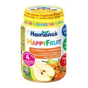 Hamánek Happy Fruit 100% Gyümölcs alma körtével és homoktövissel 190 g 4 hó+