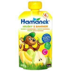 Hamánek Körte banánnal 100% gyümölcspüré 120 g 4 hó+
