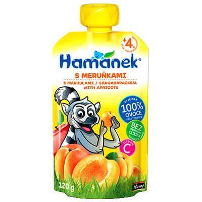 Hamánek Sárgabarack 100% gyümölcspüré 120 g 4 hó+