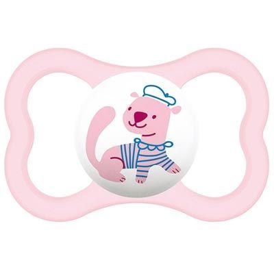 MAM Air Különösen bőrbarát szilikon cumi 6 hó+ (rózsaszín, vidra)