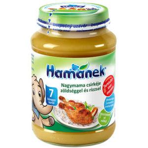 Hamánek Bébiétel Nagymama csirkéje zöldséggel és rizzsel 190 g 7 hó+