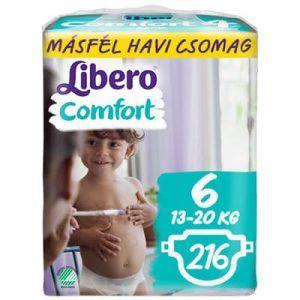Libero Comfort 6 Nadrágpelenka (13-20 kg) 216 db - Másfél havi csomag