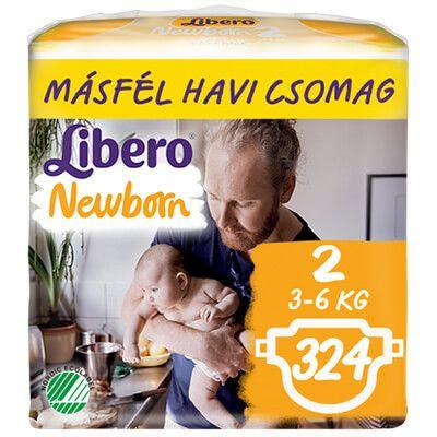 Libero Newborn 2 Nadrágpelenka (3-6 kg) 324 db – Másfél havi csomag