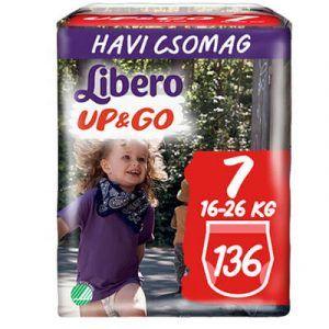 Libero Up & Go Bugyipelenka 7 (16-26 kg) 136 db - Havi csomag