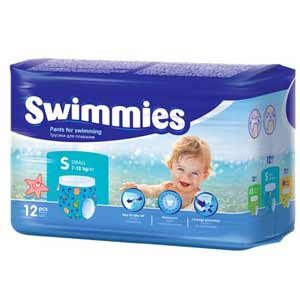 Swimmies Úszópelenka S (7-13 kg) 12 db