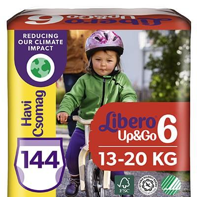 Libero Up & Go 6 Bugyipelenka (13-20 kg) 144 db - Havi csomag új