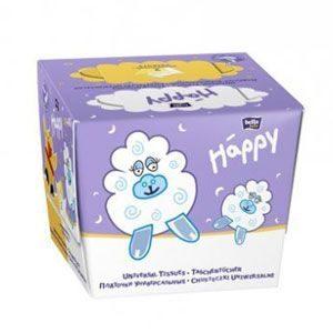 Bella Baby Happy Papírzsebkendő fehér-citromsárga (80 db)