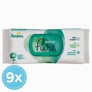 Pampers Aqua Pure Nedves Torlokendo 432 db