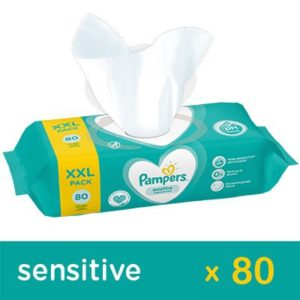 Pampers Sensitive Törlőkendő 80 db ikon