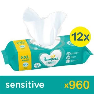 Pampers Sensitive törlőkendő 12x 80 db (960 db)