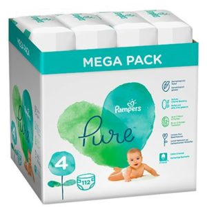 Pampers Pure Protection Pelenka 4-es méret (9-15 kg) 112 db - Mega Pack