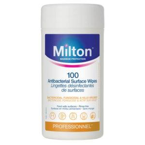 Milton Antibakteriális fertőtlenítő kendő (100 db)