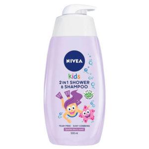 Nivea Kids 2in1 Tusfürdő és Sampon Lányoknak 500 ml