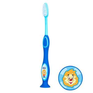 Chicco Gyermek fogkefe tejfogakhoz 3-6 év (kék)