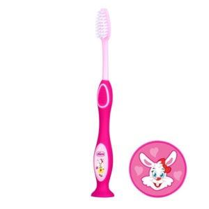 Chicco Gyermek fogkefe tejfogakhoz 3-6 év (rózsaszín)