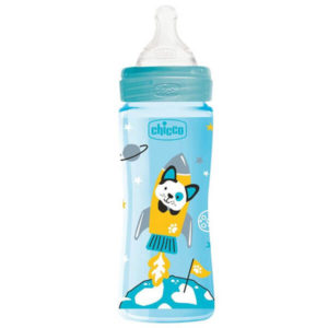 Chicco Well Being Cumisüveg 330 ml 4 hó+ (kék)