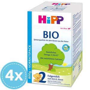 HiPP 2 Bio Tejalapú Anyatej-kiegészítő tápszer 6 hó+ 4x 800 g (3200 g)
