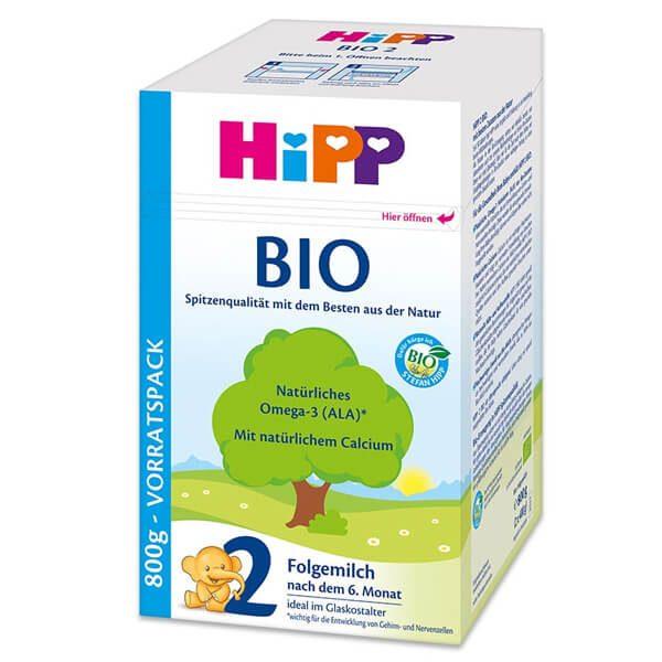 HiPP 2 Bio Tejalapú Anyatej-kiegészítő tápszer 6 hó+ 800 g