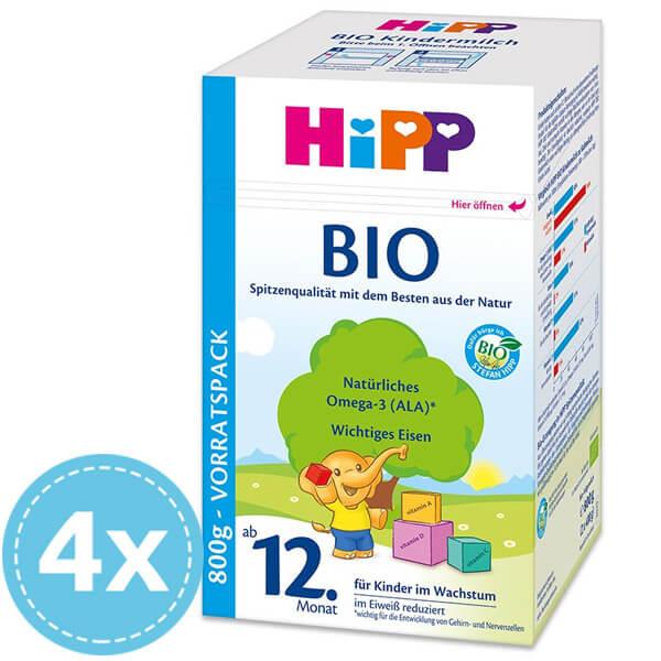 HiPP BIO Tejalapú Gyerekital 12 hó+ 4x 800 g (3200 g)