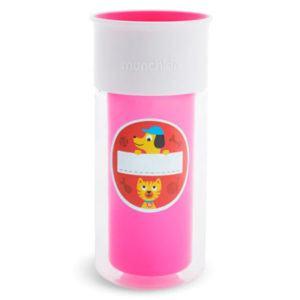 Munchkin Miracle 360 Hidegen tartó matricás ivópohár 266 ml rózsaszín