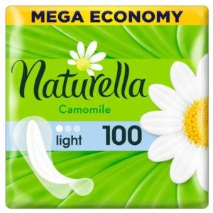 Naturella Tisztasági betét kamilla illattal Light 100 db