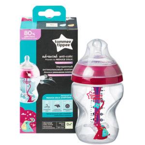 Tommee Tippee Advanced Anti-Colic Cumisüveg 260 ml 0 hó+ (pink)