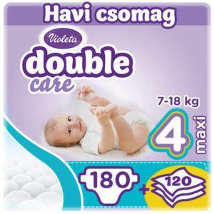 Violeta Double Care 4-es Nadrágpelenka 180 db havi pelenkacsomag