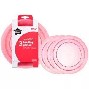 Tommee Tippee Essentials tányérok (3 db) 12 hó+ piros