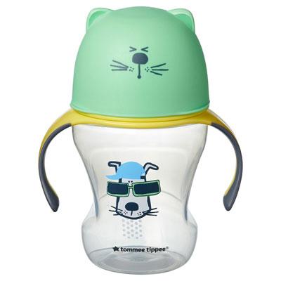 Tommee Tippee Puha ivócsőrös tanuló pohár 6 hó+ 230 ml (zöld)