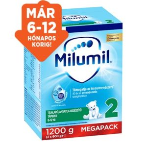 Milumil 2 Anyatej- kiegészítő tápszer 6 hó+ 1200 g (új)